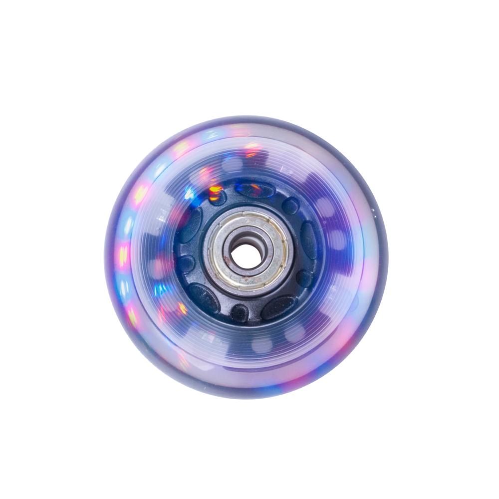 Svítící kolečko na inline brusle PU 64*24 mm s ABEC 5 ložisky černá