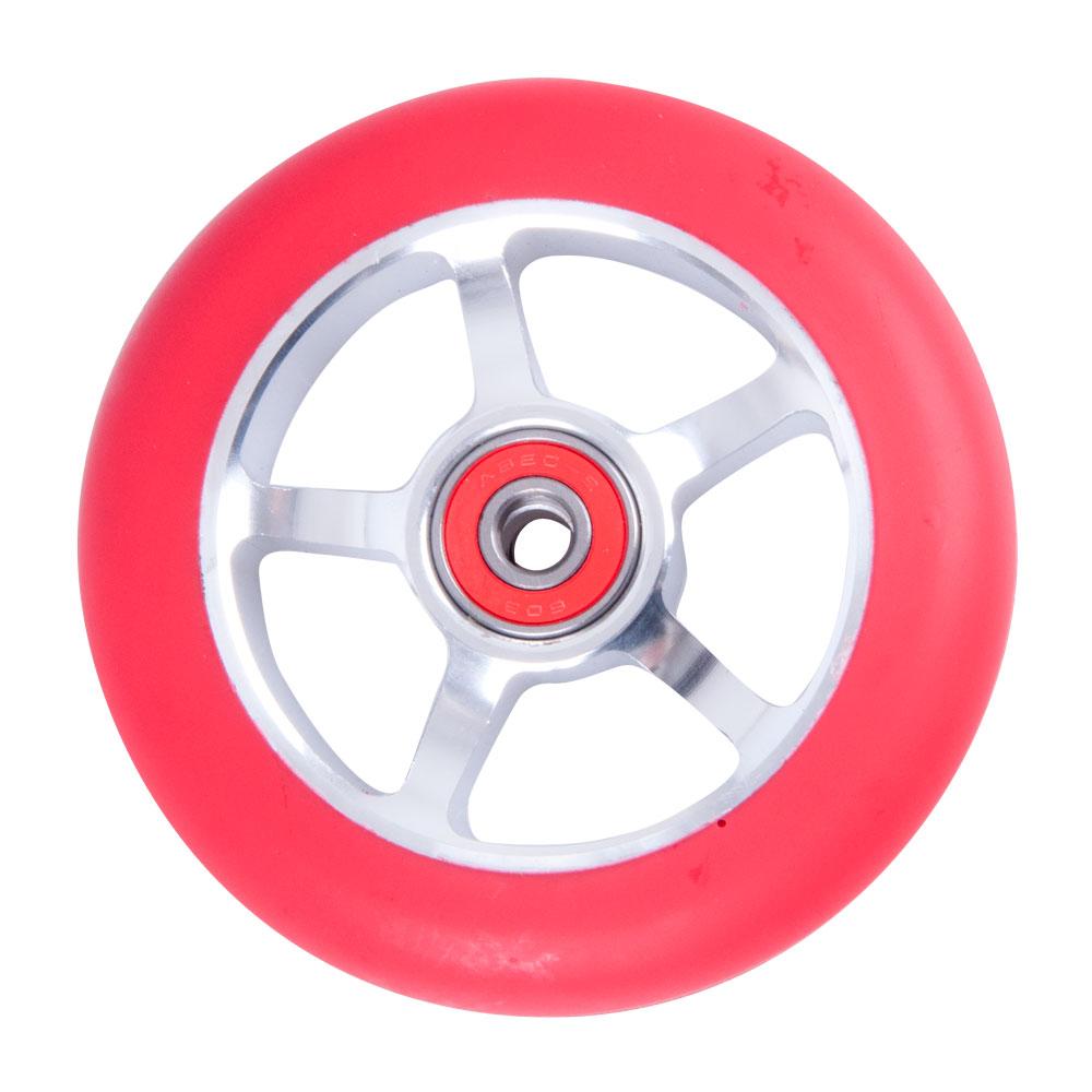 Náhradní kolečko pro koloběžku FOX PRO Raw 100 mm červeno-stříbrná
