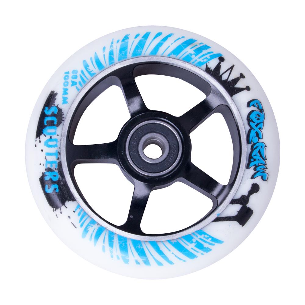 Náhradní kolečko pro koloběžku FOX PRO Raw 100 mm bílo-černá