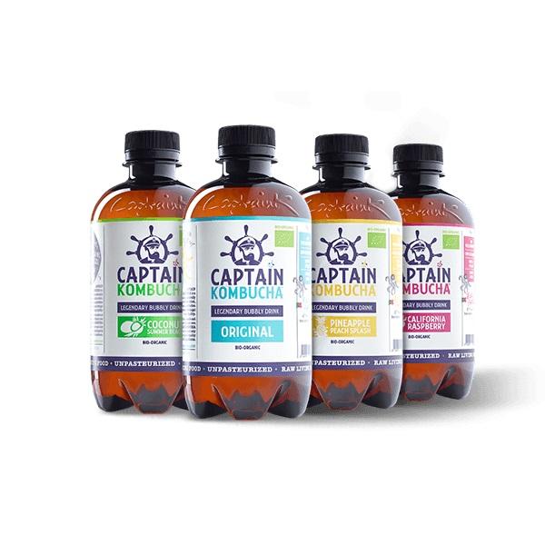Probiotický drink Captain Kombucha 400 ml Original