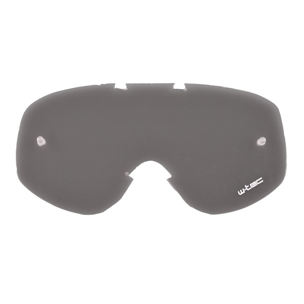 Náhradní sklo k moto brýlím W-TEC Spooner kouřové