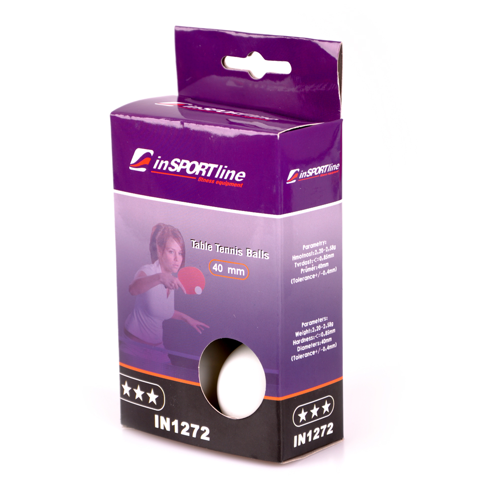 inSPORTline 3 Star Table Tennis Balls