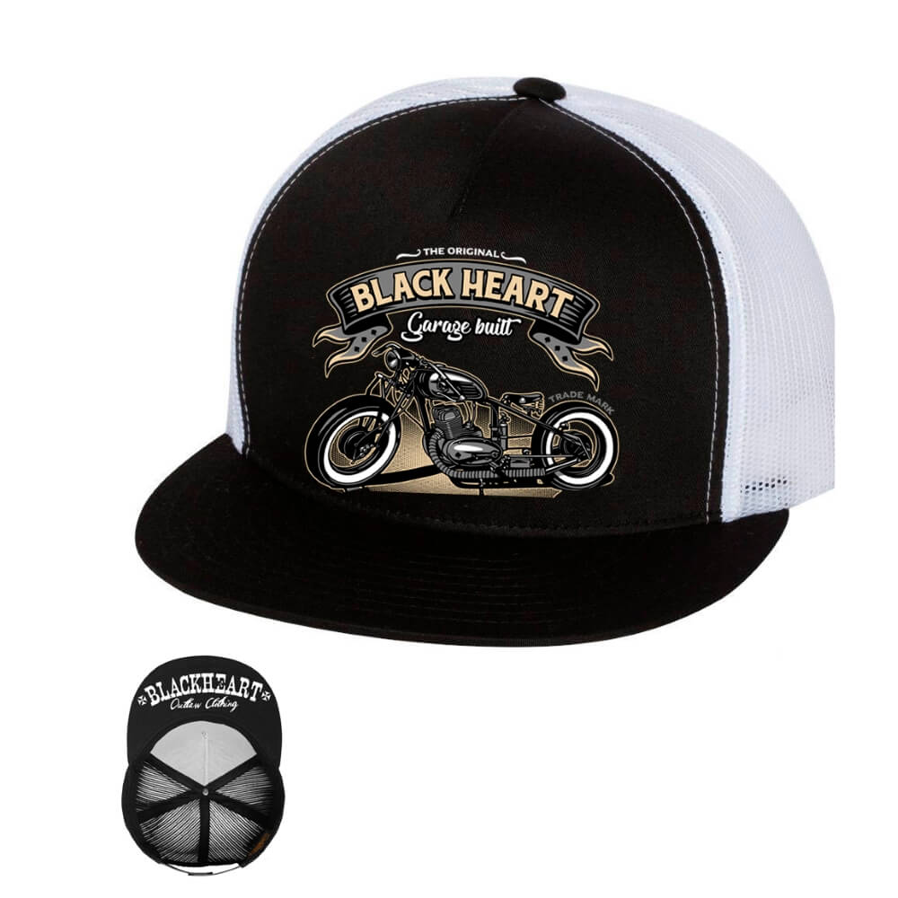 BLACK HEART Jawa 350 Trucker bílá