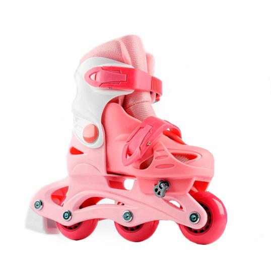 Dětské kolečkové brusle Laubr TriSkate růžová - M (31-34)