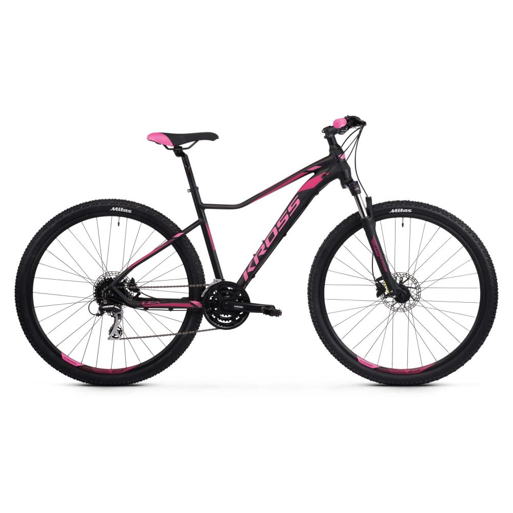 """Dámské horské kolo Kross Lea 6.0 27,5"""" SR - model 2021 černo-růžová - XXS (14"""")"""