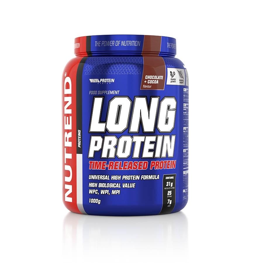 Práškový koncentrát Nutrend Long Protein s BCAA 1000g čokoláda-kakao