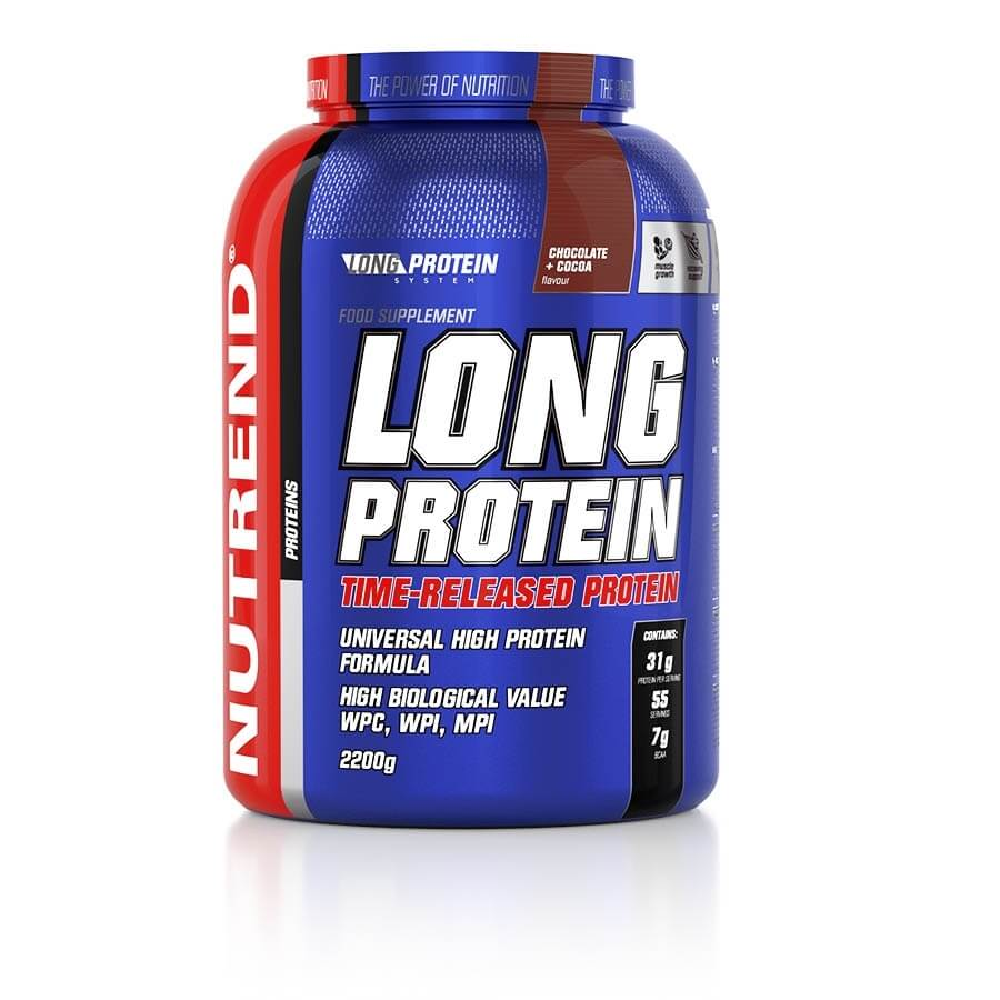 Práškový koncentrát Nutrend Long Protein s BCAA 2200g marcipán