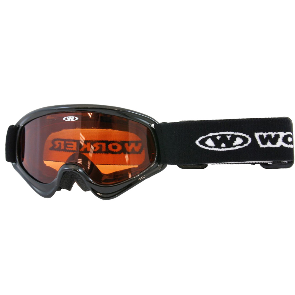 Dětské lyžařské brýle WORKER Sterling BLK-černá