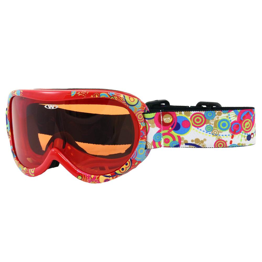 Dětské lyžařské brýle WORKER Miller s grafikou Z12-RED-červená graf.