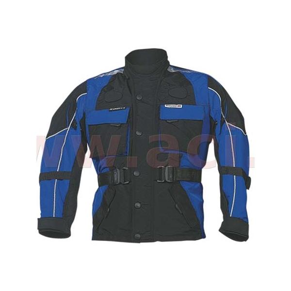 Dětská moto bunda Roleff TASLAN kids modro-černá - L