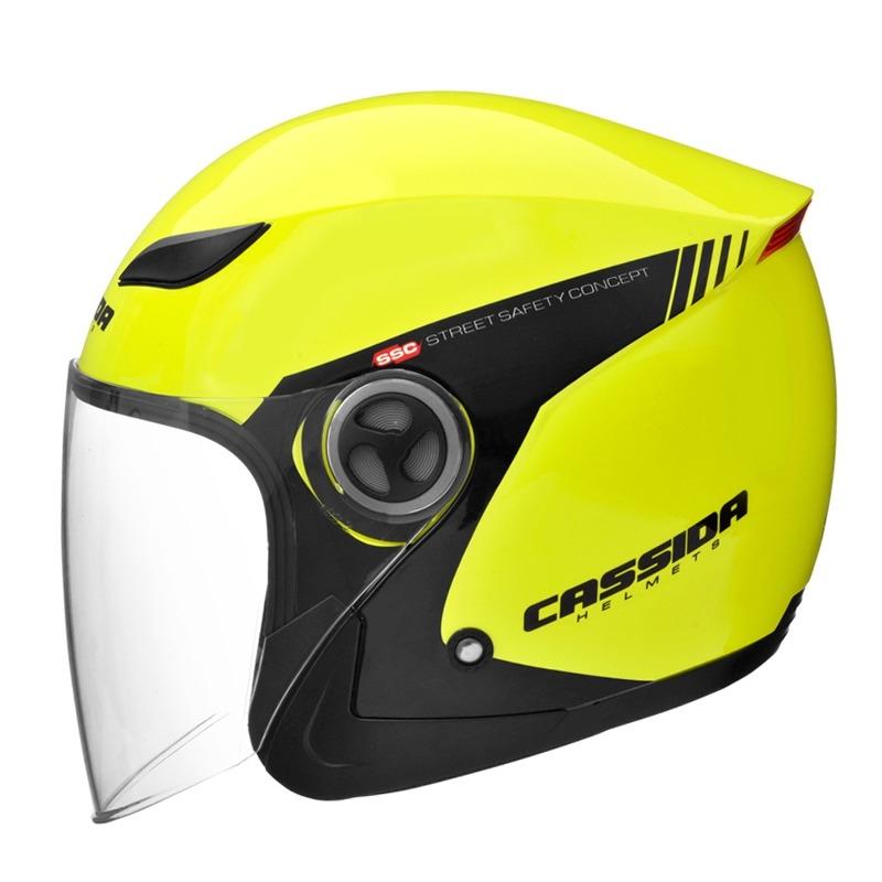 Fotografie Moto přilba Cassida Reflex Safety černá-fluo žlutá - XS (53-54) CASSIDA