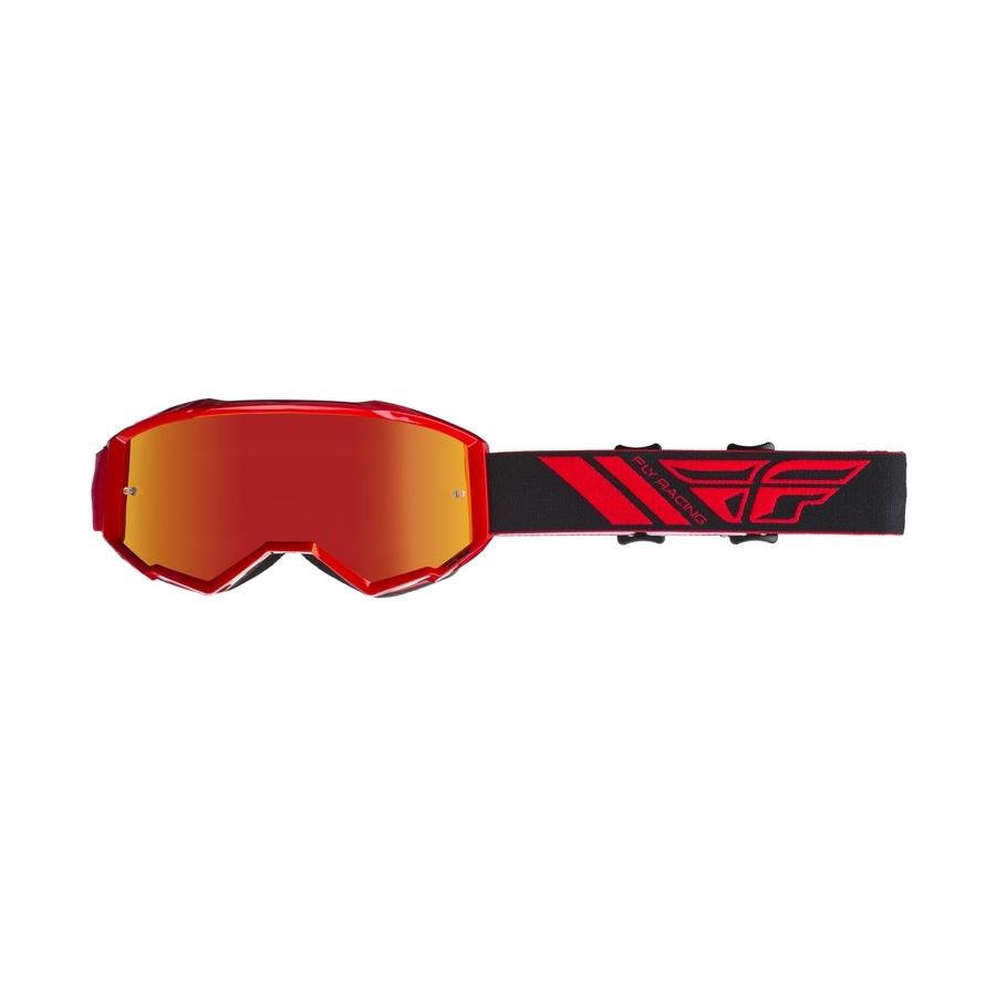 Motokrosové brýle Fly Racing Zone 2019 červené, červené chrom plexi