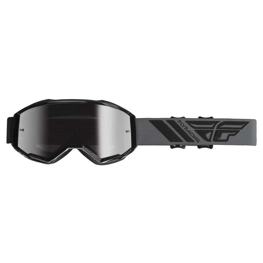 Motokrosové brýle Fly Racing Zone 2019 černé, stříbrné chrom plexi