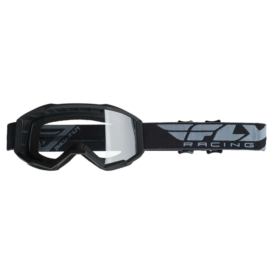 Motokrosové brýle Fly Racing Focus 2019 černé, čiré plexi bez pinů