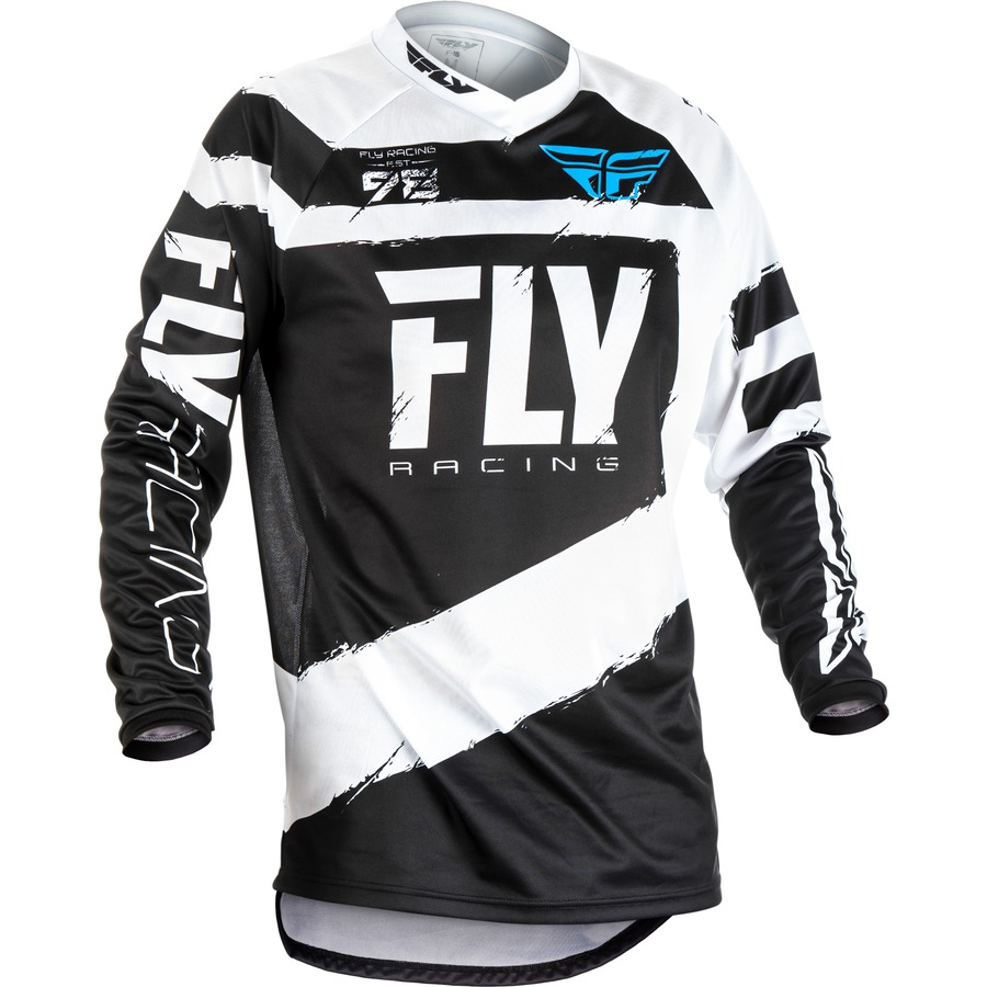 Fly Racing F16 2018 černobílá  S