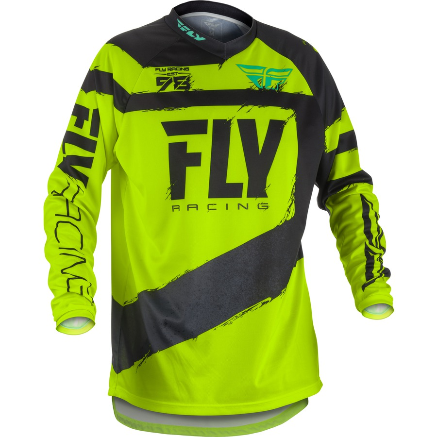 Fly Racing F16 2018 černáhiviz  2XL