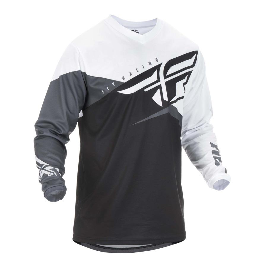 Motokrosový dres Fly Racing F-16 2019 černá bílá šedá - 4XL b9bf88b8ce