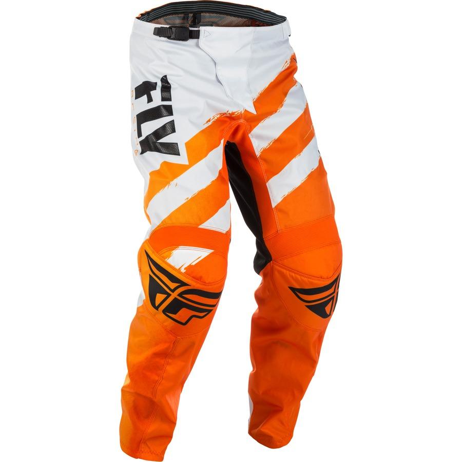 Motokrosové kalhoty Fly Racing F-16 2018 oranžovo-bílá - 28S