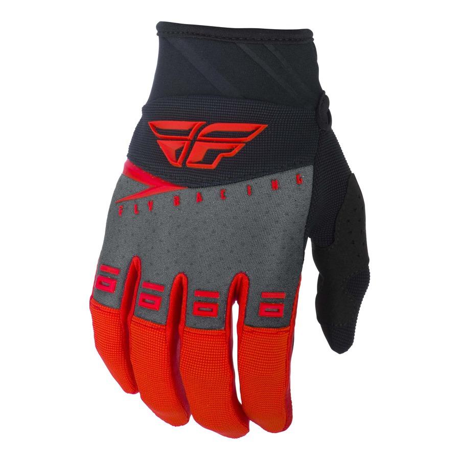 Motokrosové rukavice Fly Racing F-16 2019 červená/černá/šedá - XS