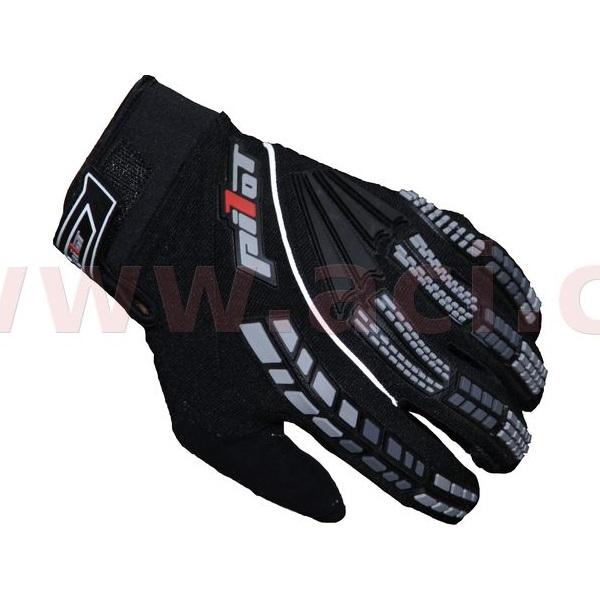 Dětské motokrosové rukavice Pilot černá - 4