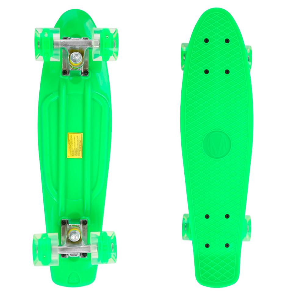 Penny board Maronad Retro se svítícími kolečky zelená