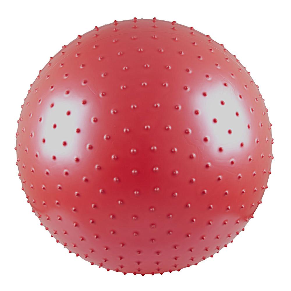 Gymnastický a masážní míč 55 cm červená