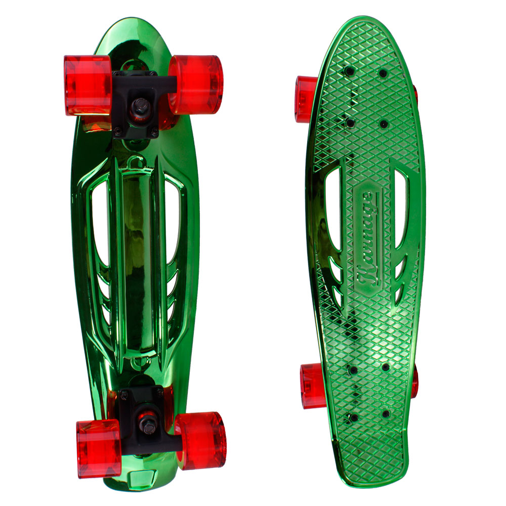 Penny board Karnage Chrome Retro zeleno-červená