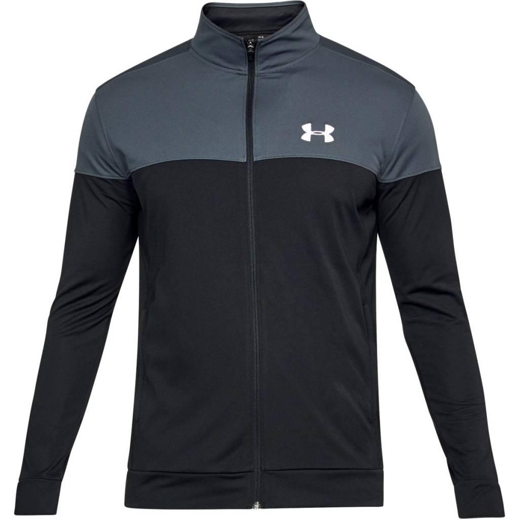 Pánská Mikina Under Armour Sportstyle Pique Jacket  Stealth Gray
