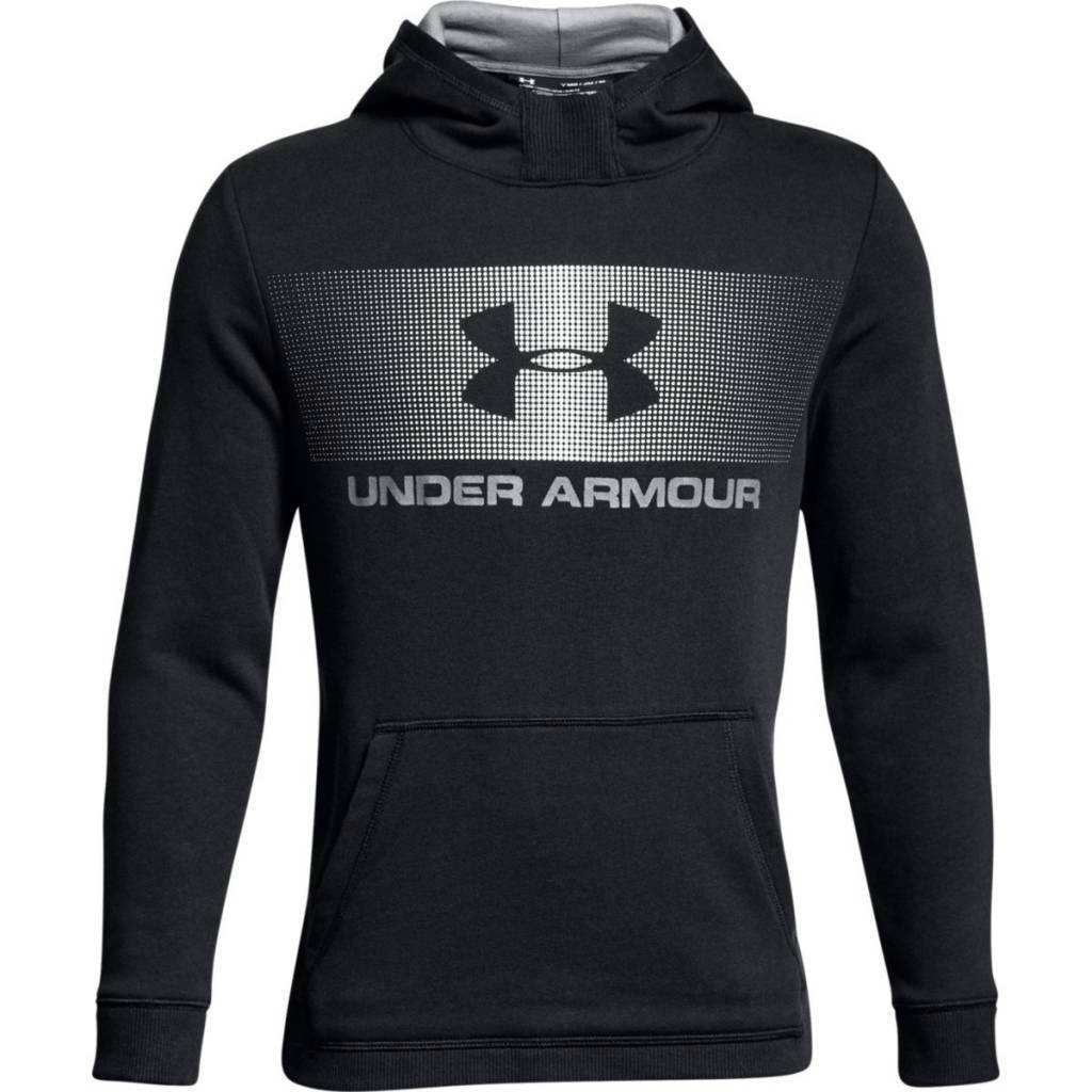 Under Armour Ctn French Terry Hoody BlackWhiteWhite - YS