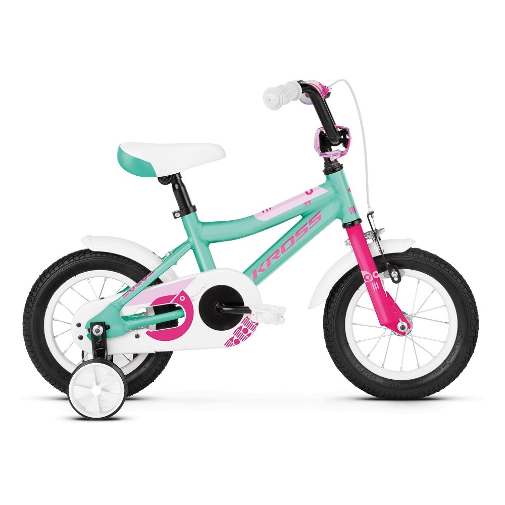 Kross Mini 20 12  model 2019 Turquoise  Pink Glossy