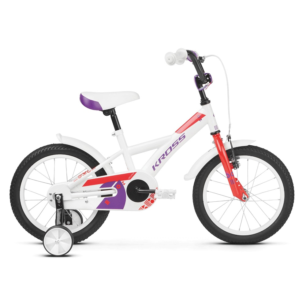 Kross Mini 30 16  model 2019 White  Red  Violet Glossy
