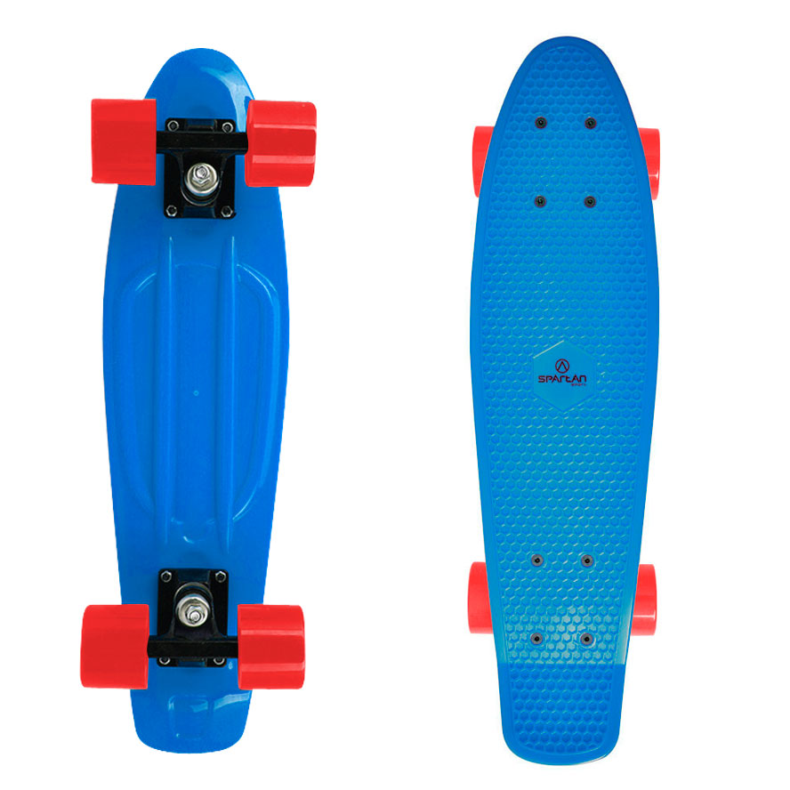 Penny board Spartan Plastic modrá