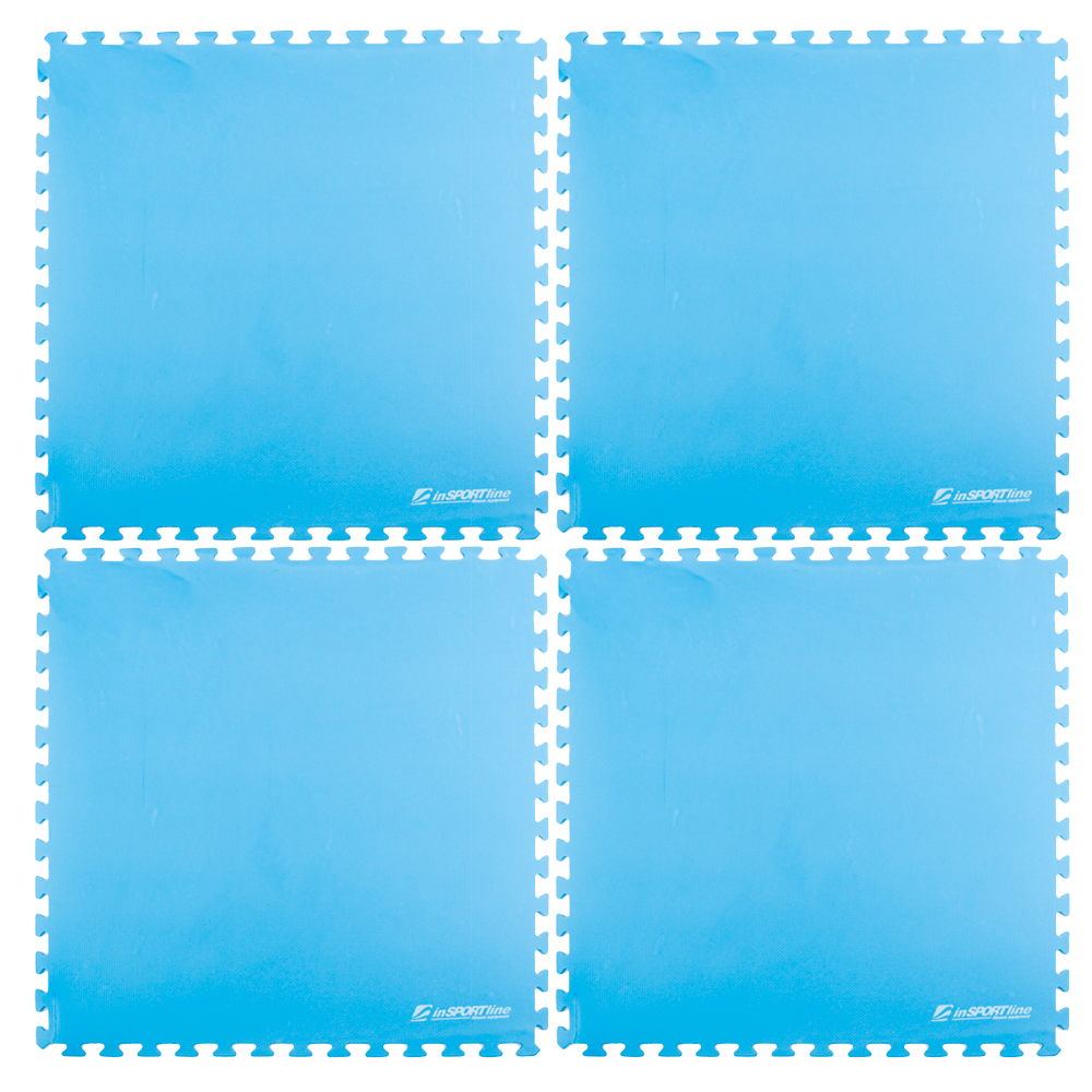 Fitness podložka inSPORTline EVA40 200 x 200 cm modrá