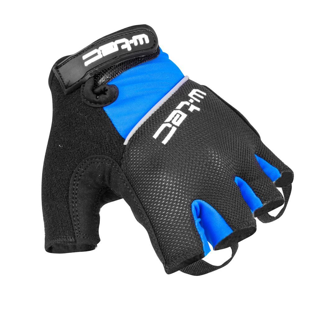 Cyklo rukavice W-TEC Bravoj AMC-1018-15 modro-černá - XS