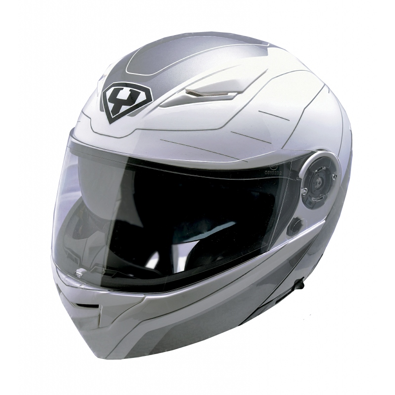 Výklopná moto helma Yohe 950-16 White-Grey - S (55-56)