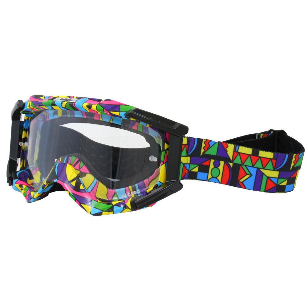 Motokrosové brýle W-TEC Major s grafikou barevná grafika