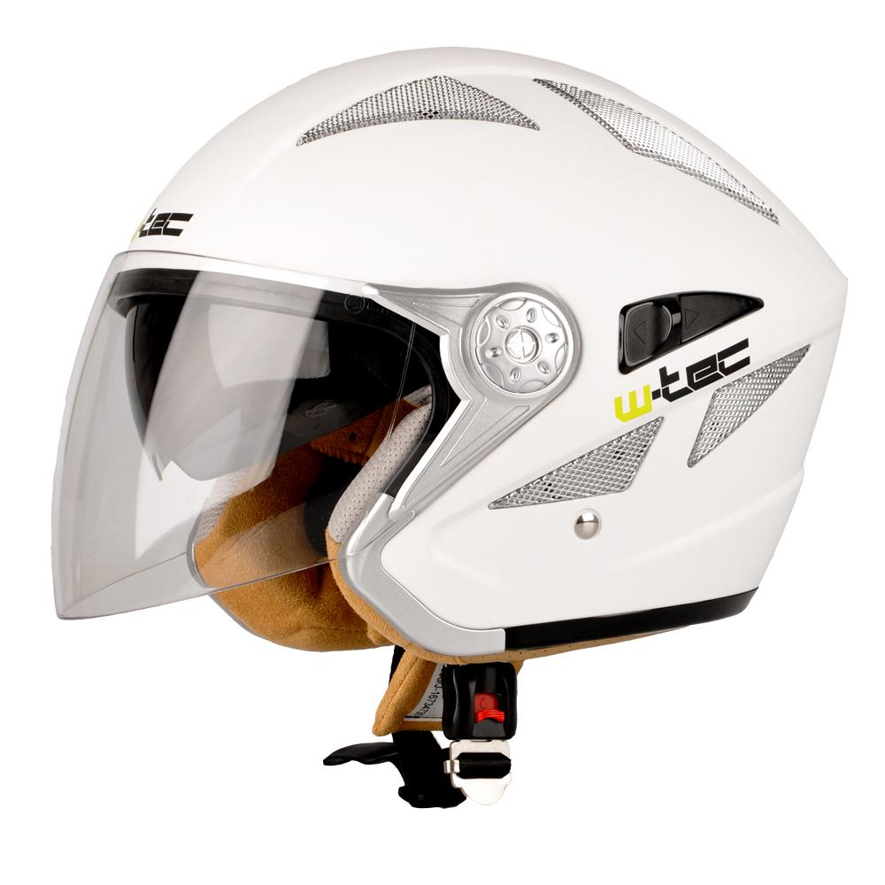 Moto helma W-TEC V529 bílá - XS (53-54)