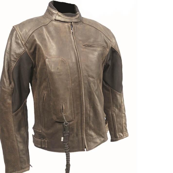 Airbagová bunda Helite Roadster Vintage hnědá kožená hnědá - S