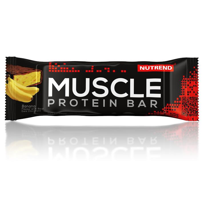Proteinová tyčinka Nutrend Muscle Protein Bar, 55 g banán