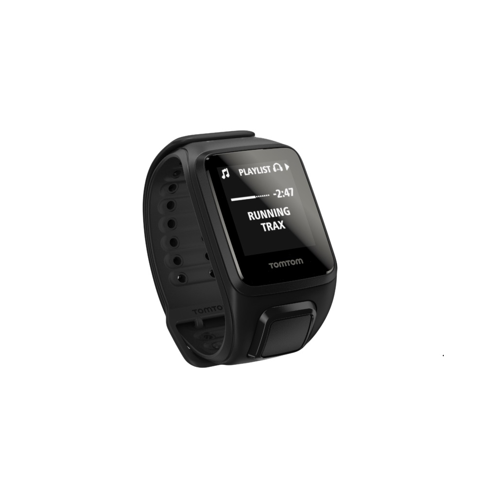 GPS hodinky TomTom Spark Fitness Music černá - L (143-206 mm)