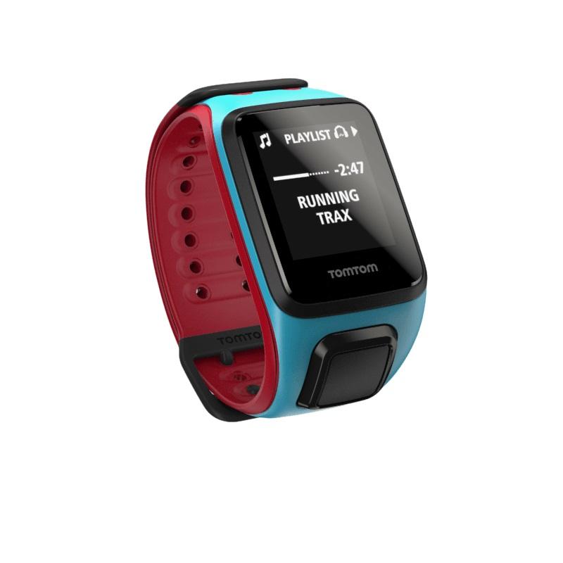 Sporttester TomTom Runner 2 Cardio + Music potápěčská modrá / červená - L (143-206 mm)