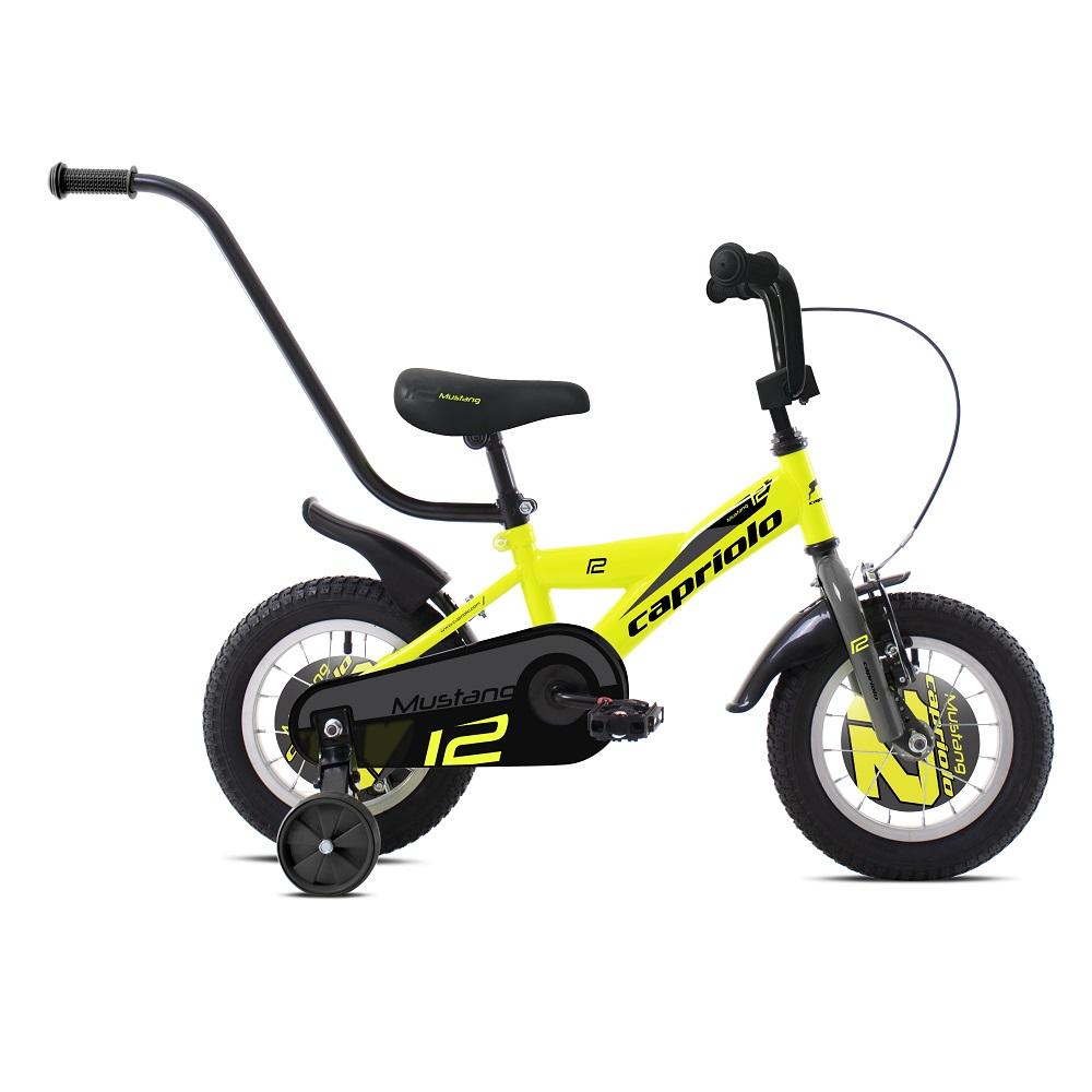 """Dětské kolo Capriolo Mustang 12"""" - model 2020 žluto-černá"""