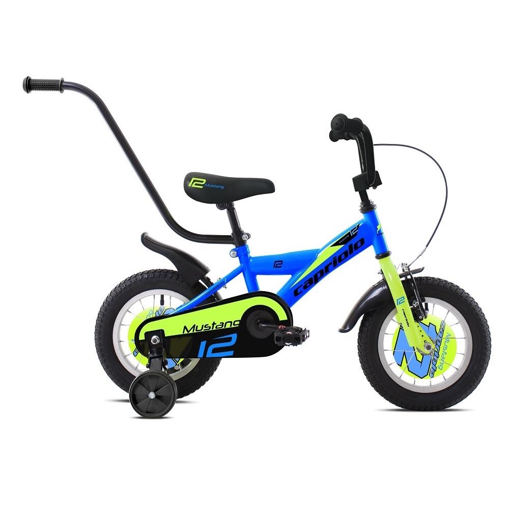 """Dětské kolo Capriolo Mustang 12"""" - model 2020 modro-zelená"""