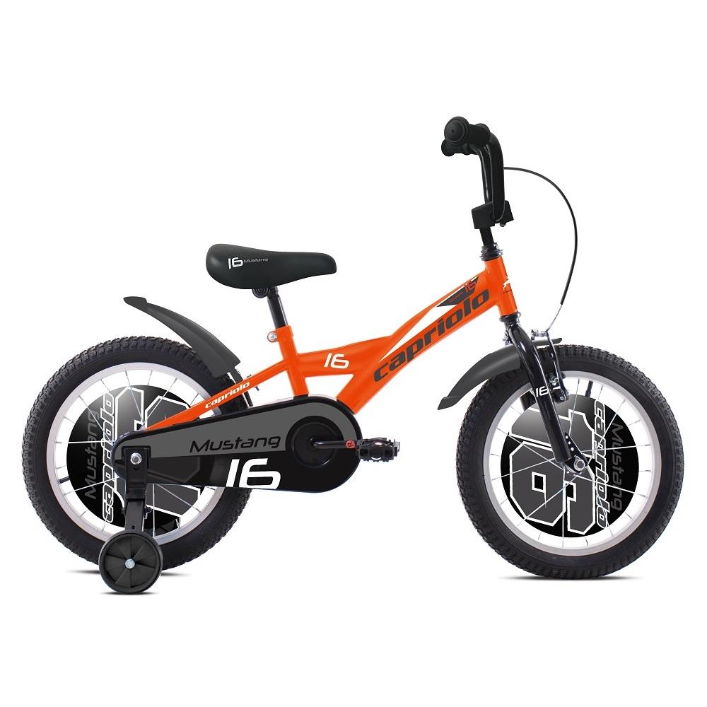 """Dětské kolo Capriolo Mustang 16"""" - model 2020 oranžová"""