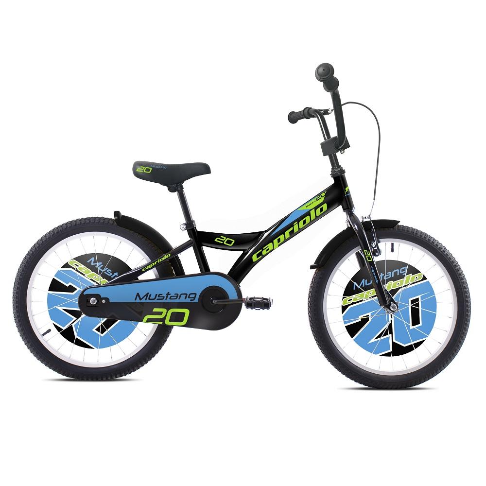 """Dětské kolo Capriolo Mustang 20"""" - model 2020 černo-modrá"""