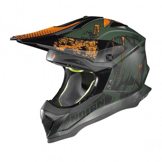 Motokrosová helma Nolan N53 Cliffhanger Flat Military Green - XXL (63-64)