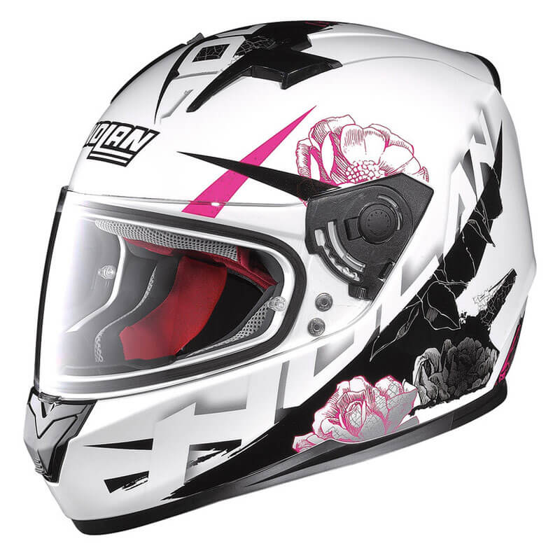 Moto helma Nolan N64 Stylet Metal White