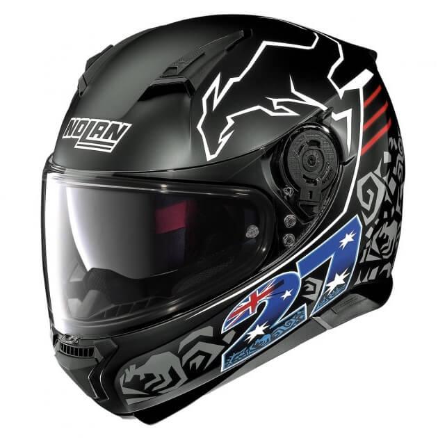 Moto helma Nolan N87 Iconic Replica 33 C. Stoner Flat Black