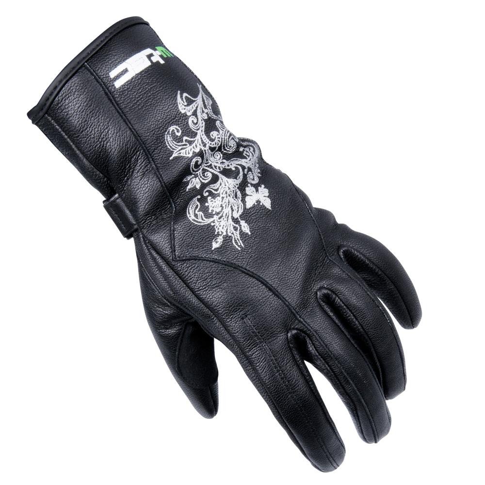 97132d27d7e Dámské kožené moto rukavice W-TEC Natali - černá. Dámské kožené moto  rukavice ...