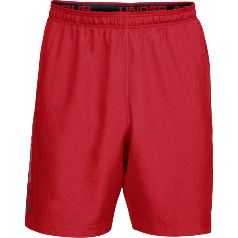 Under Armour Woven Graphic Wordmark Short Red - XL